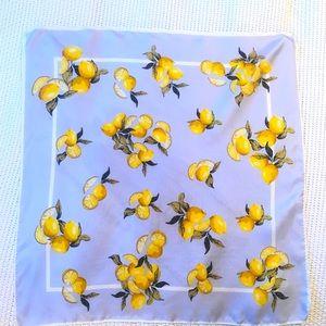 Silk Lemon scarf